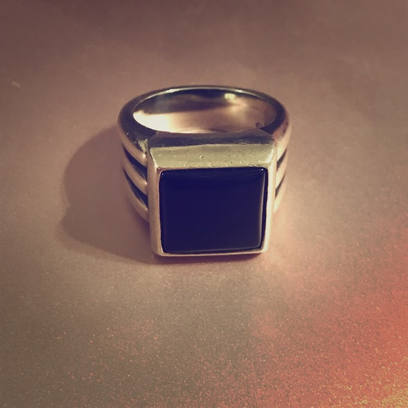 James Avery Jewelry - Rare Retired James Avery Black Onyx Square Ring